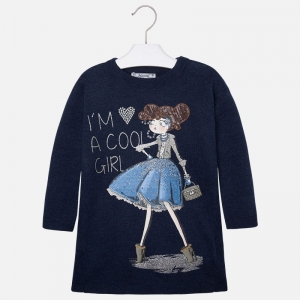 "Sukienka trykot ""cool girl"" Mayoral 4944-60"